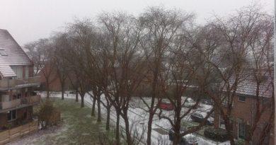 Winters uitzicht.