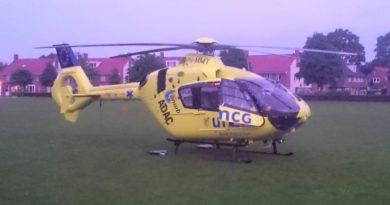 Traumahelikopter ANWB UMCG ontmoeting.