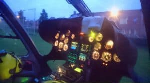 Traumahelikopter Cockpit