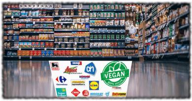 Vegan producten in de supermarkt.