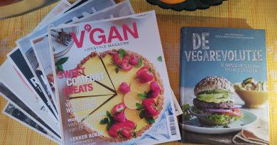 Boeken over veganisme.