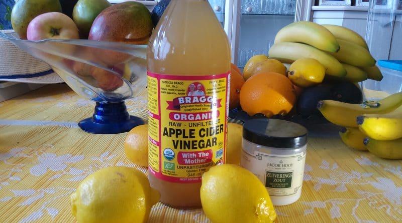 Apel azijn citroen en bicarbonaat